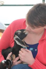 Bek and baby goat